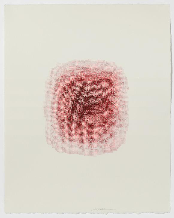 Painting on paper by Masako Kamiya