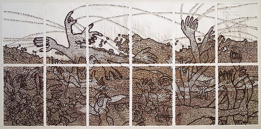 Print/drawing by Yizhak Elyashiv