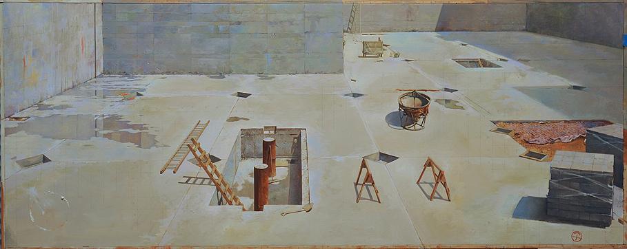 Painting by Joseph McNamara