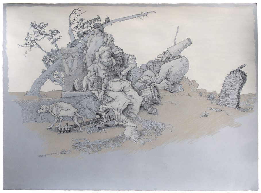 drawing by Peter Scott